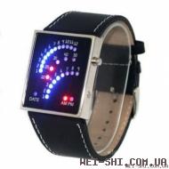 """Бинарные LED часы """"Спидометр"""""""