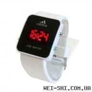 LED часы ADIDAS Белые